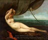 Nude Reclining by the Sea painting reproduction, Gustave Courbet