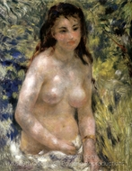 Nude Torso in the Sunlight (Torso of Anna) painting reproduction, Pierre-Auguste Renoir