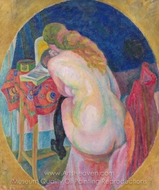 Nude Woman Reading painting reproduction, Robert Delaunay