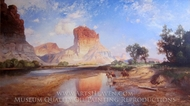 O'Neil Butte, Grand Canyon painting reproduction, Thomas Moran