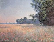 Oat Fields, Giverny painting reproduction, Claude Monet