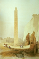 Obelisk at Luxor painting reproduction, David Roberts