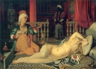 Odaliske mit Skalaven painting reproduction, Jean Auguste Dominique Ingres