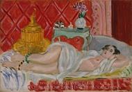 Odalisque, Harmony in Red painting reproduction, Henri Matisse