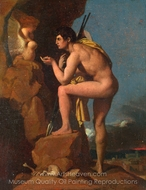 Oedipus and the Sphinx painting reproduction, Jean Auguste Dominique Ingres