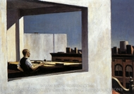 Office in a Small City painting reproduction, Edward Hopper