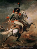 Officer of the Hussars painting reproduction, Theodore Gericault