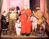 Official Portrait of the Military Junta painting reproduction, Fernando Botero