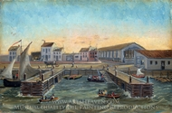 Old Ferry Stairs painting reproduction, William P. Chappel