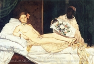Olympia painting reproduction, Edouard Manet
