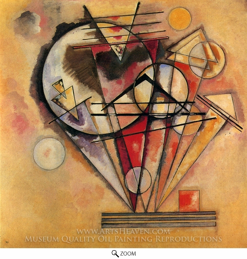 Wassily Kandinsky, On Points oil painting reproduction