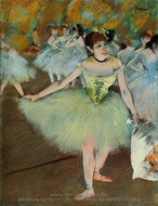 On Stage painting reproduction, Edgar Degas