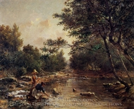 On the Banks of the River painting reproduction, Paul-Camille Guigou