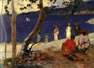 On the Coast of the Sea, II painting reproduction, Paul Gauguin