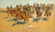 On the Southern Plains painting reproduction, Frederic Remington