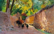 On the Way To Market painting reproduction, Eugene Alexis Girardet