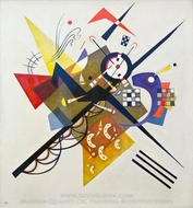 On White II painting reproduction, Wassily Kandinsky