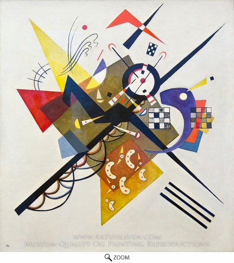 Wassily Kandinsky, On White II oil painting reproduction