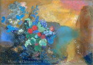 Ophelia among the Flowers painting reproduction, Odilon Redon