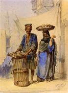 Orange Seller In Cairo painting reproduction, Amedeo Preziosi