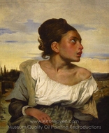 Orphan Girl at the Cemetery painting reproduction, Eugene Delacroix