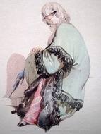 Ottoman Woman 1 painting reproduction, Amedeo Preziosi