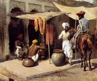 Outside An Indian Dye House painting reproduction, Edwin Lord Weeks