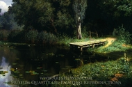 Overgrown Pond painting reproduction, Vasiliy Polenov