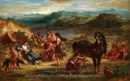 Ovid Among the Scythians painting reproduction, Eugene Delacroix