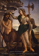 Pallas and the Centaur painting reproduction, Sandro Botticelli
