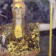 Pallas Athena painting reproduction, Gustav Klimt