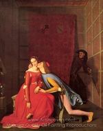 Paolo and Francesca painting reproduction, Jean Auguste Dominique Ingres