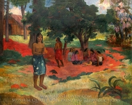 Paru Paru (Whispered Words II) painting reproduction, Paul Gauguin
