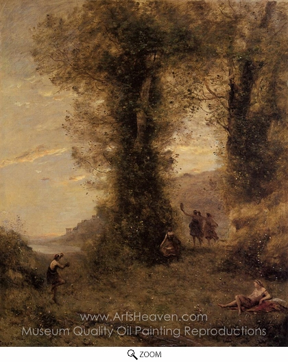 Jean-Baptiste Camille Corot, Pastorale oil painting reproduction