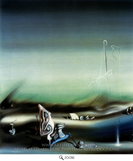 Yves Tanguy, Paysage Surrealiste oil painting reproduction