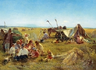 Peasant Diner in Field painting reproduction, Konstantin Makovskiy