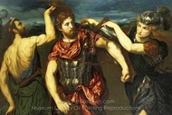 Perseus Armed by Mercury and Minerva painting reproduction, Paris Bordone