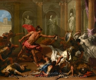 Perseus Confronting Phineus with the Head of Medusa painting reproduction, Sebastiano Ricci