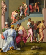 Pharaoh with his Butler and Baker painting reproduction, Jacopo Pontormo