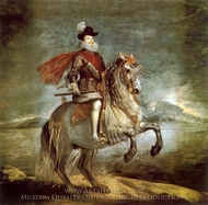 Philip III on Horseback painting reproduction, Diego Velázquez