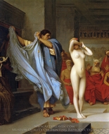 Phryne before the Areopagus (detail) painting reproduction, Jean-Leon Gerome
