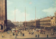 Piazza San Marco, Looking toward San Geminiano painting reproduction, Canaletto