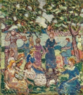 Picnic by the Inlet painting reproduction, Maurice Prendergast