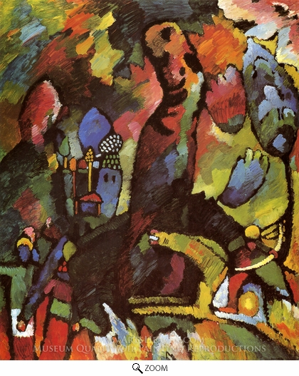 Wassily Kandinsky, Picture with Archer oil painting reproduction