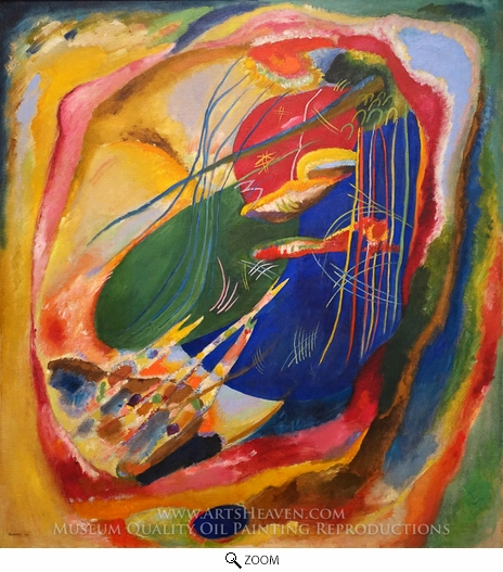 Wassily Kandinsky, Picture with Three Spots oil painting reproduction
