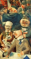 Pillars of Society painting reproduction, George Grosz