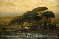 Pine Grove of the Barberini Villa painting reproduction, George Inness