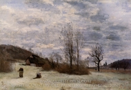 Plains near Beauvais painting reproduction, Jean-Baptiste Camille Corot