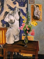 Plaster Torso and Bouquet of Flowers painting reproduction, Henri Matisse