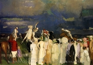 Polo Crowd painting reproduction, George Bellows